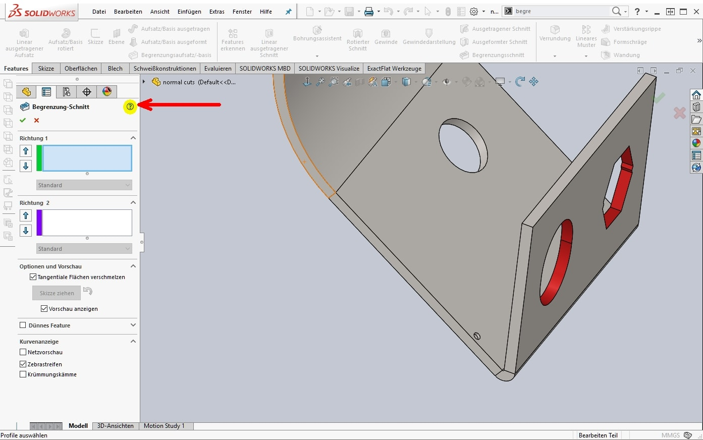 Coffee SOLIDWORKS_Feature Hilfe