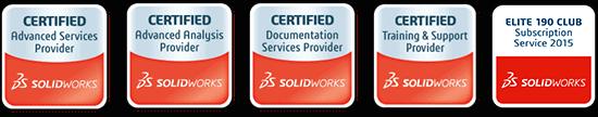 Fünf SOLIDWORKS Zertifikate