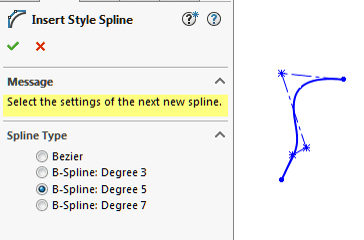 SOLIDWORKS 2016 B-Splines