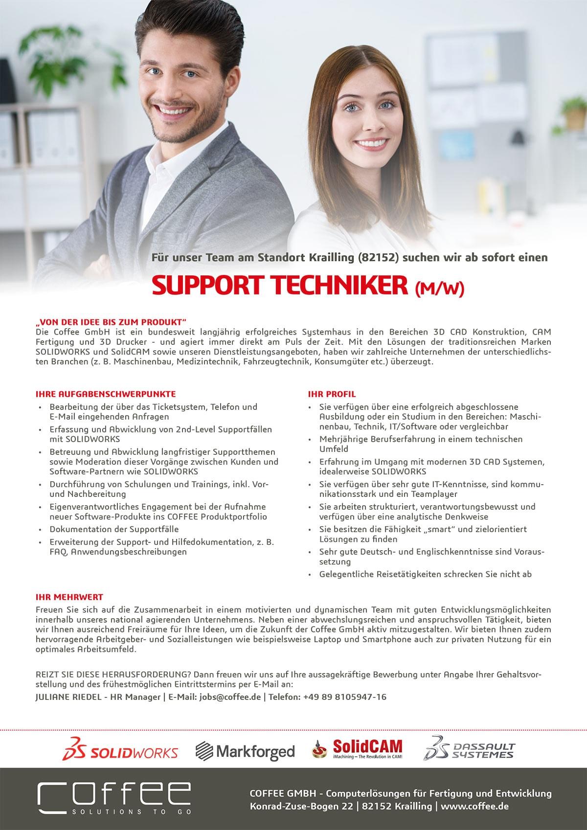Stellenanzeige_Support-Techniker_0716_Krailling