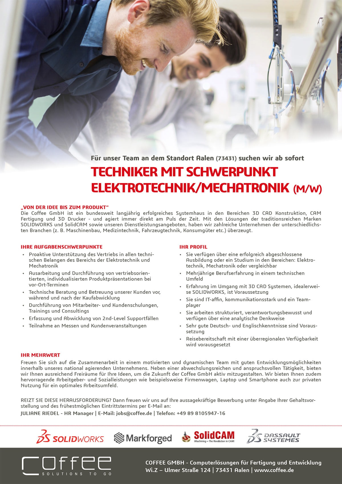 Stellenanzeige_Techniker-Electrical_0716_Aalen