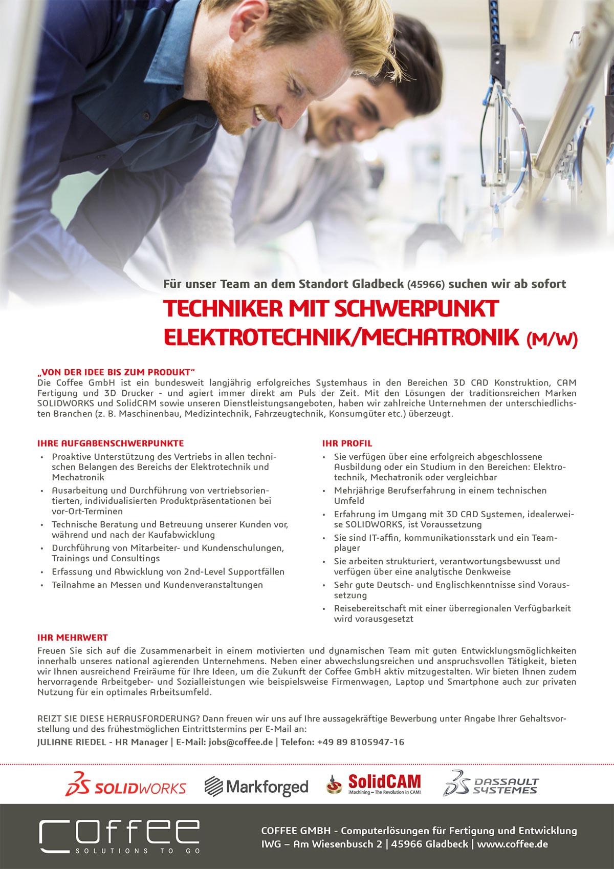 Stellenanzeige_Techniker-Electrical_0716_Gladbeck