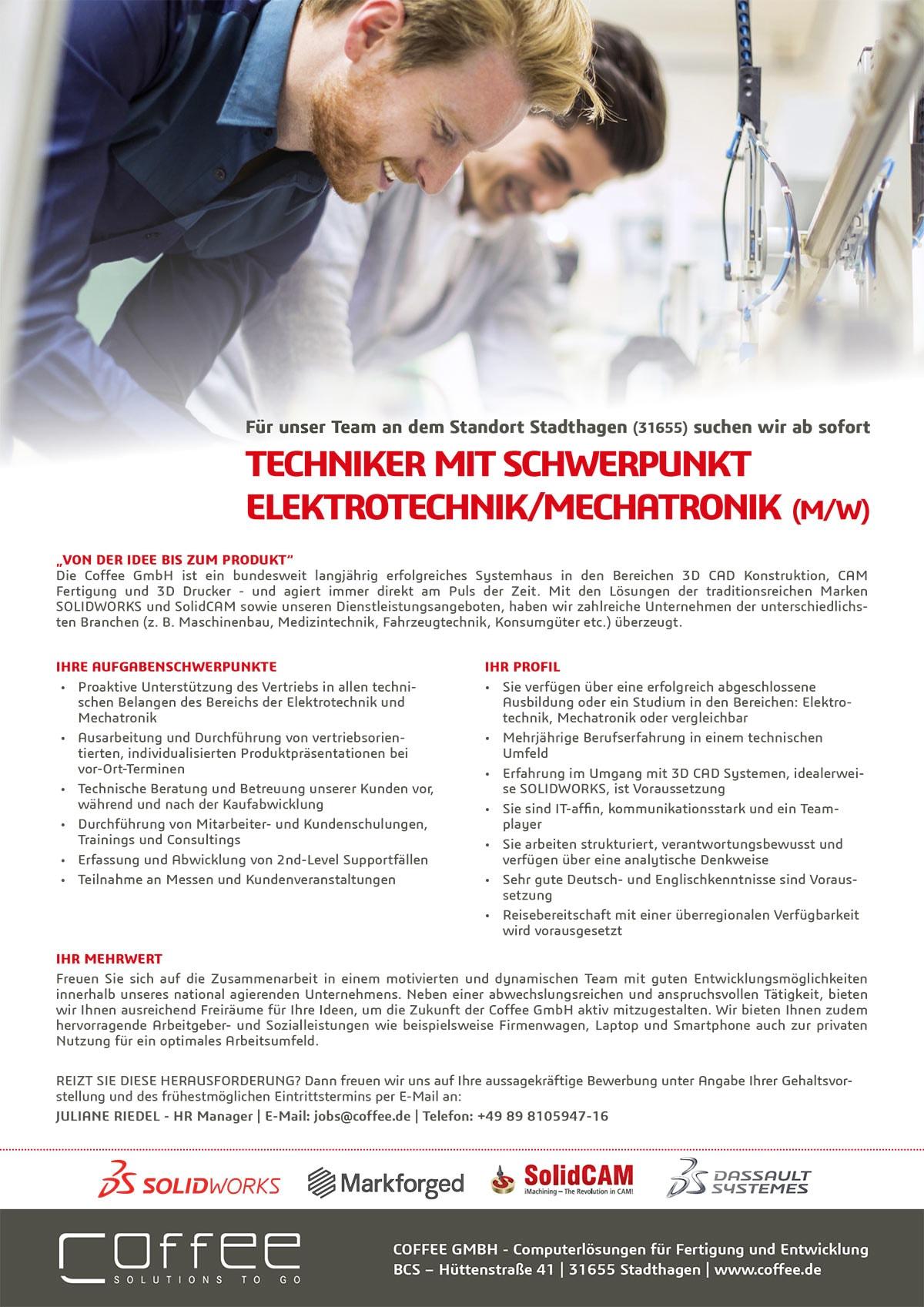 Stellenanzeige_Techniker-Electrical_0716_Stadthagen