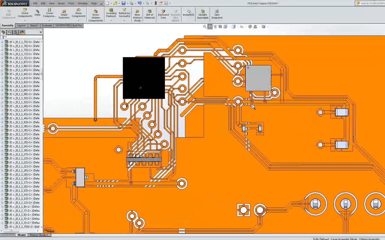 SOLIDWORKS PCB Simulation Kupfer