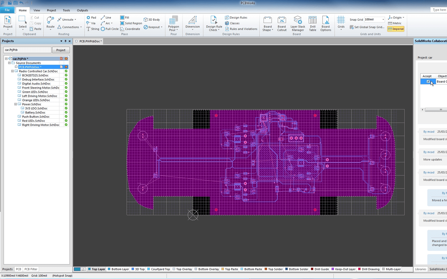 SOLIDWORKS PCB MCAD Integration