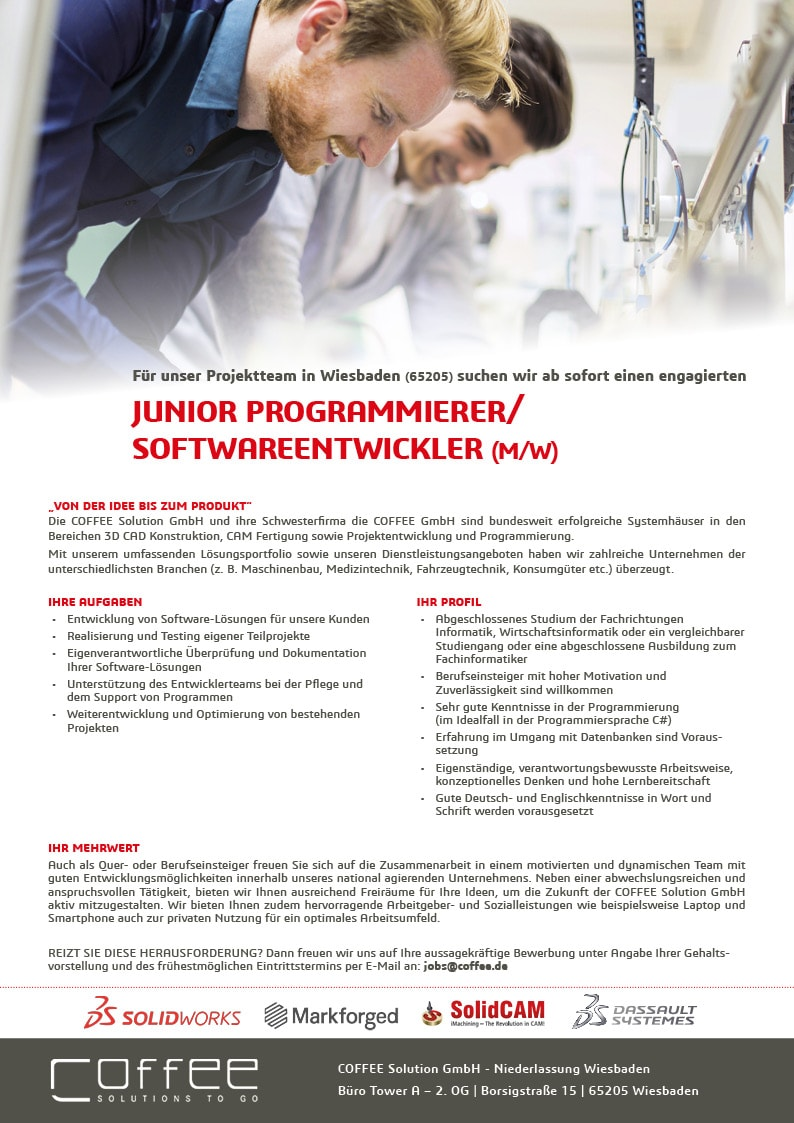 Stellenanzeige_Junior_Programmierer_COFFEE-Solution