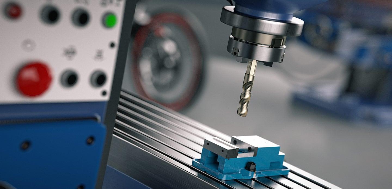 Bohrkopf beim Bohren in CNC Maschine