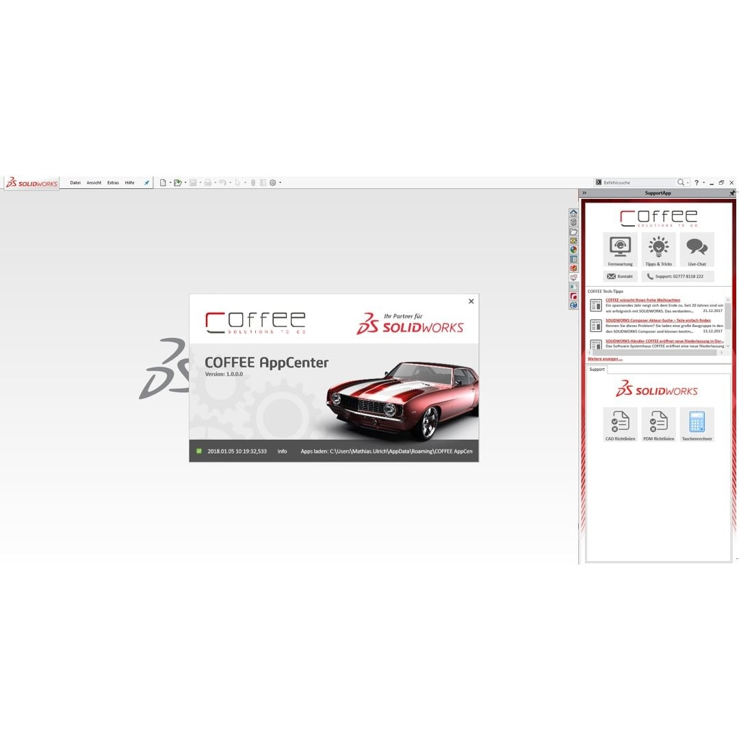 AppCenter-solidworks-coffee-gmbh-oberflaecher