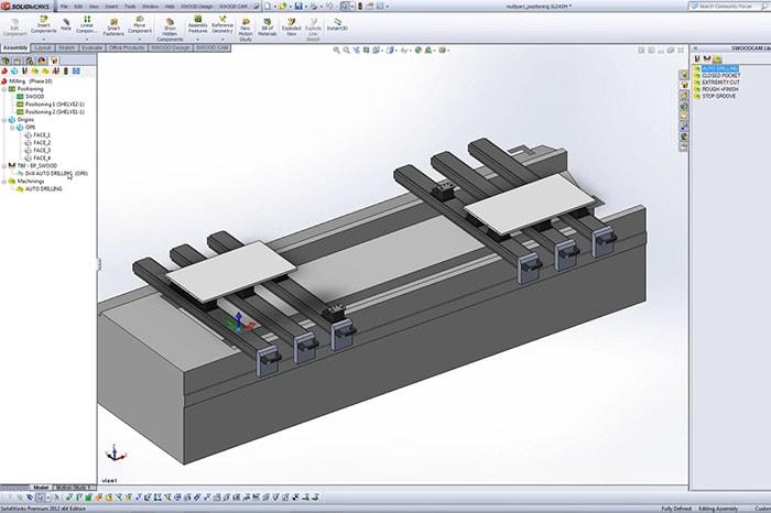 3D-Darstellung eines Bauteils in SWOOD CAM