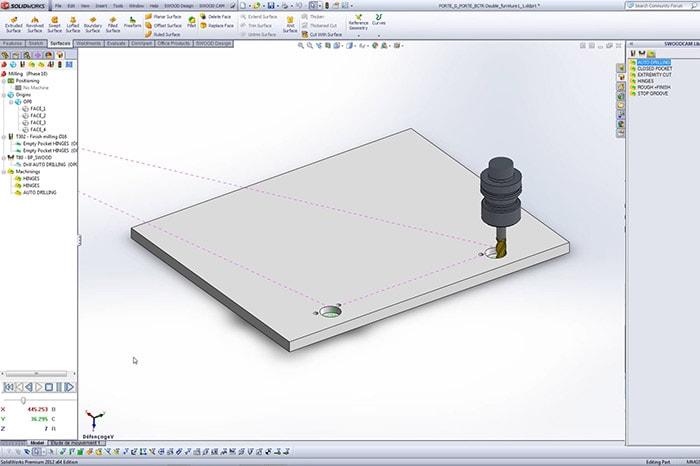 3D-Darstellung einer Platte in SWOOD CAM