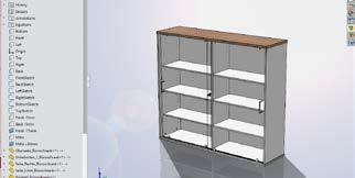 Benutzeroberfläche der Holzverarbeitungssoftware SWOOD