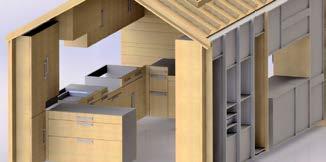 Holzhaus in 3D-Darstellung über SWOOD