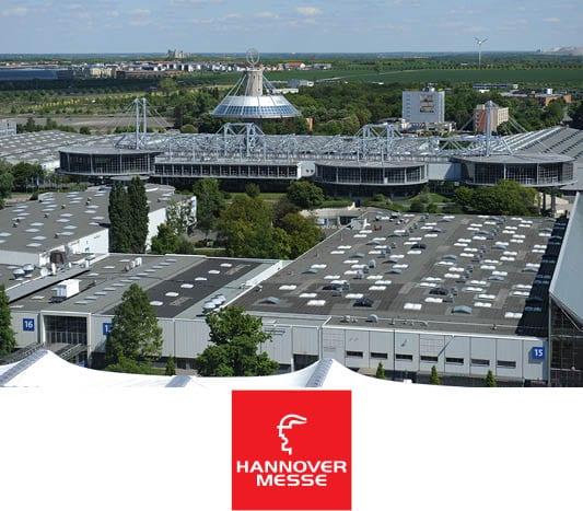 Hannover Messe mit Logo