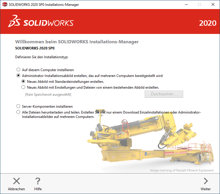 SOLIDWORKS Installations-Manager