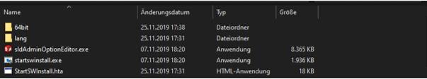 Windows Fenster mit SOLIDWORKS Installationsdatei