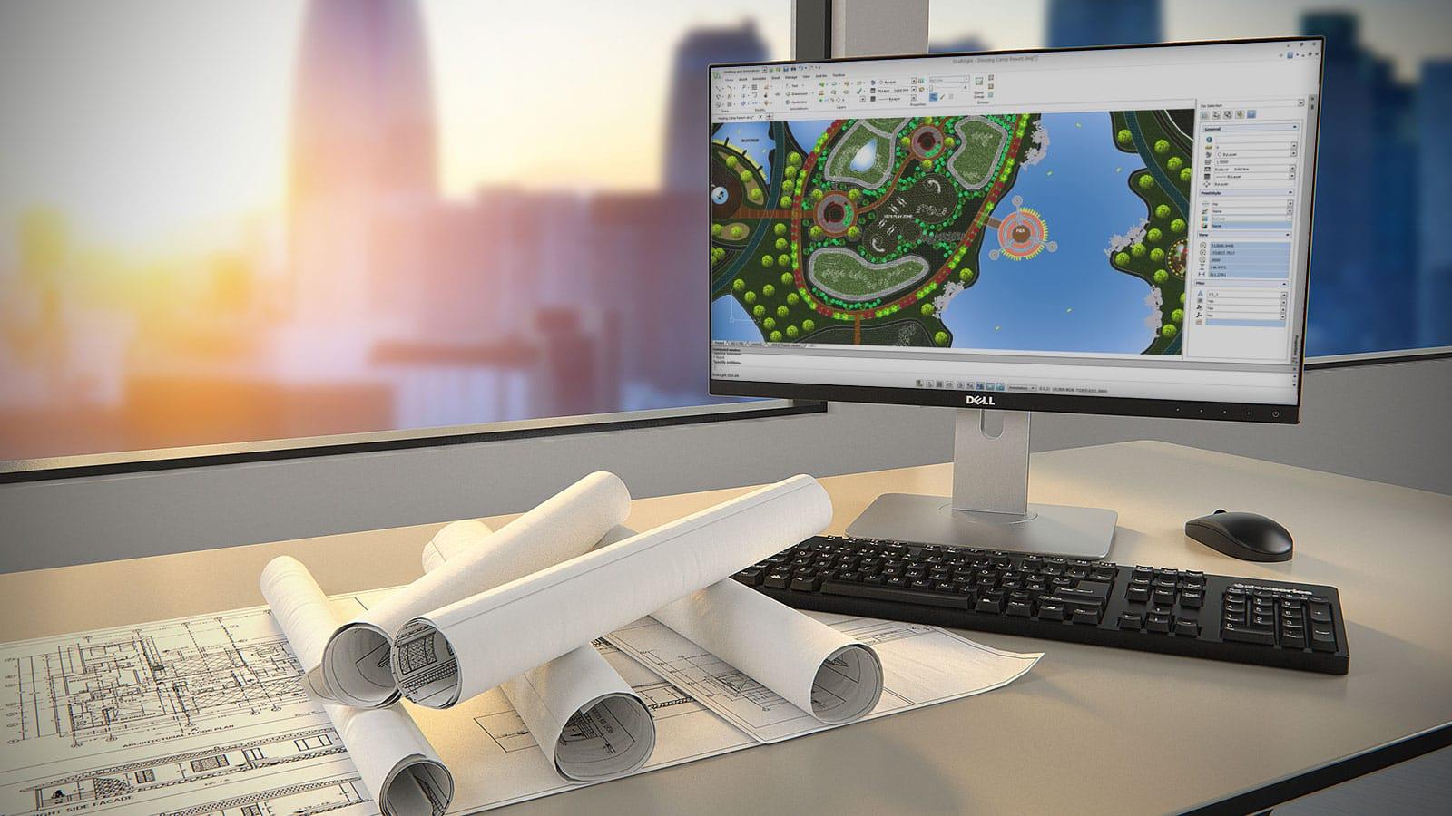 Desktop mit DraftSight Anwendung