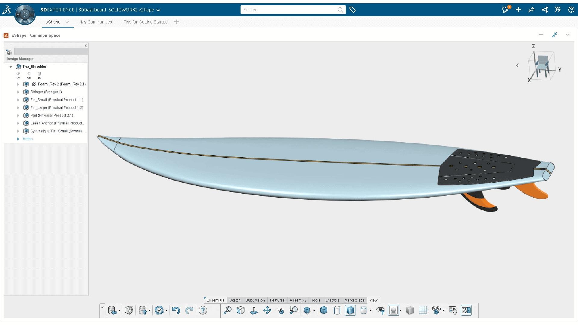 Bauteil in 3D Creator Rolle der 3DEXPERIENCE Plattform